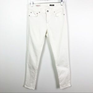 Red Engine Wildfire Mid-Rise Cigarette Jeans White